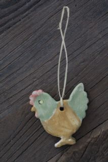 Handmade ceramic decoration (type !) Hen